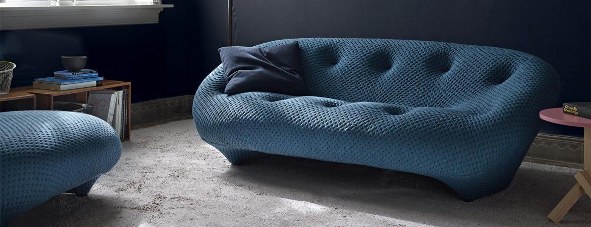 Sofás de oficina Ploum azul | Muebles de oficina Spacio