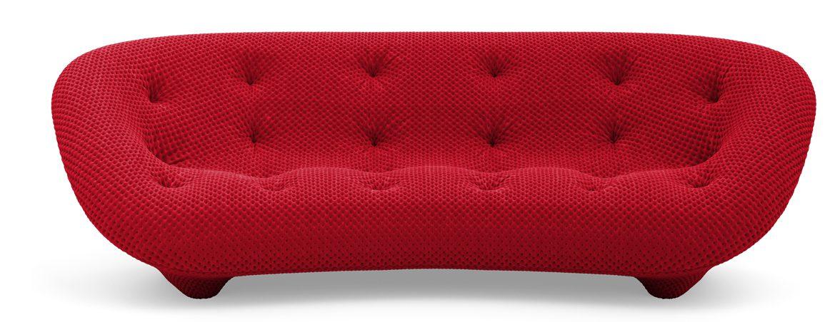 Sofás de oficina Ploum rojo | Muebles de oficina Spacio