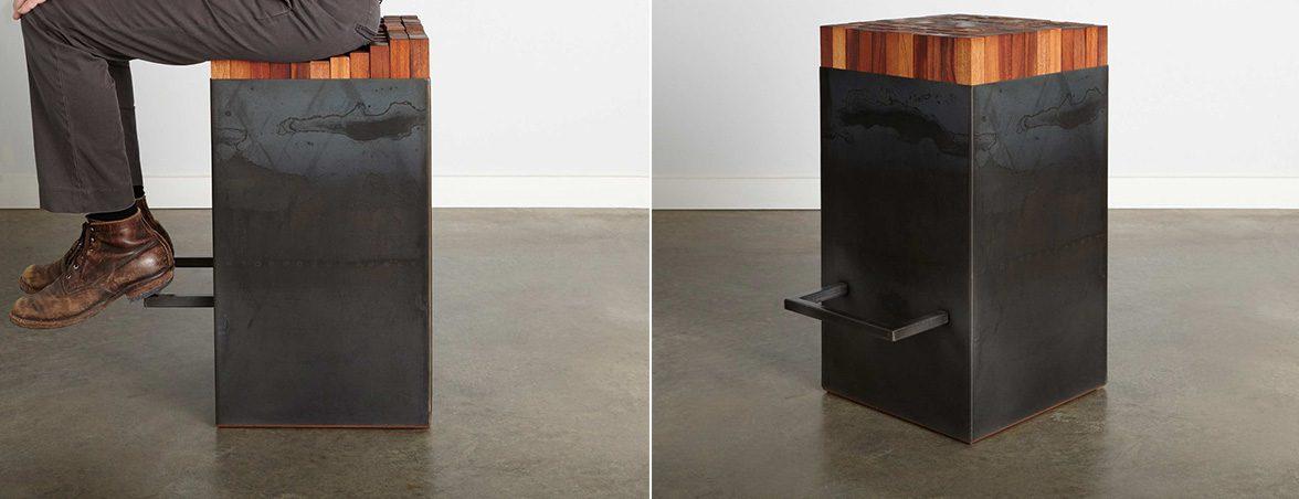 Taburete flexible acero ennegrecido | Muebles de oficina Spacio