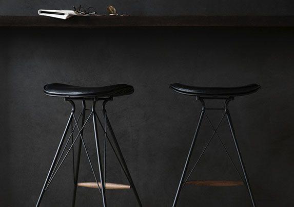 Taburete tradicional color negro | Muebles de oficina Spacio