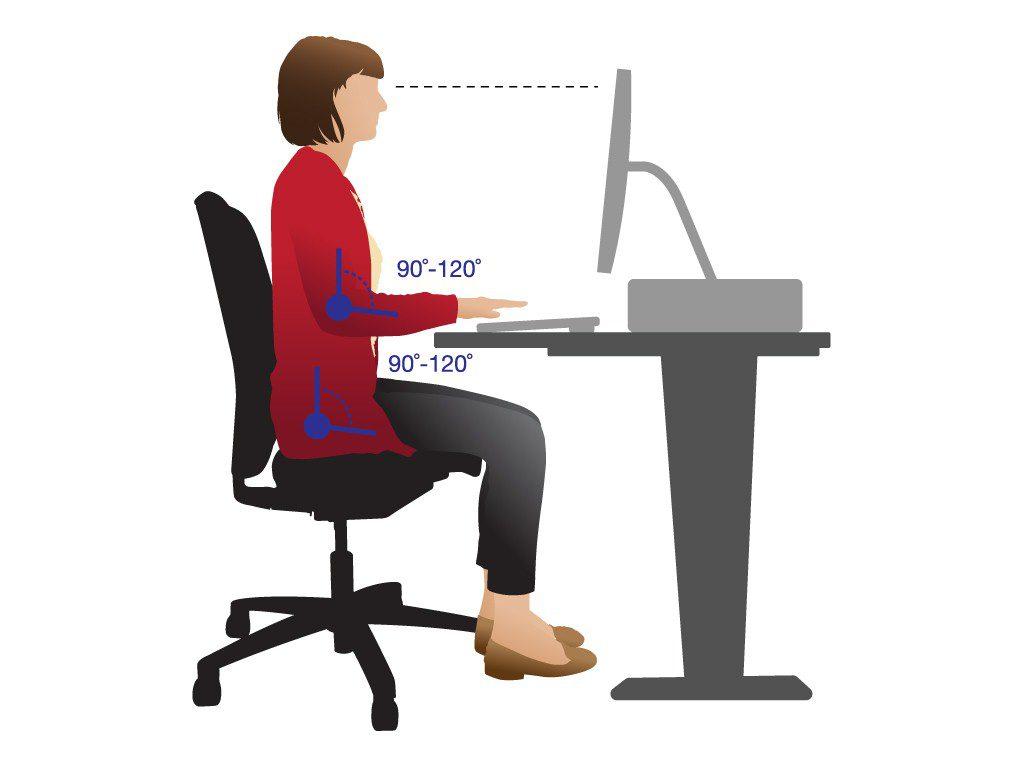 Como sentarse correctamente posición | Muebles de oficina Spacio