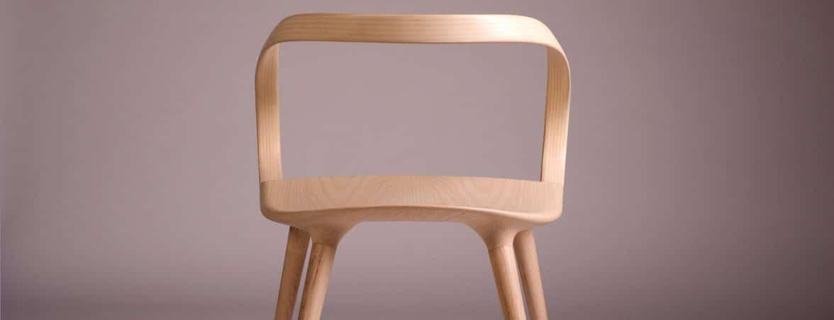 Silla de madera Velo trasera | Muebles de oficina Spacio