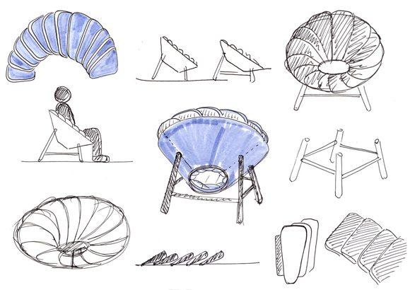 Sillas de diseño Quetzal boceto | Muebles de oficina Spacio