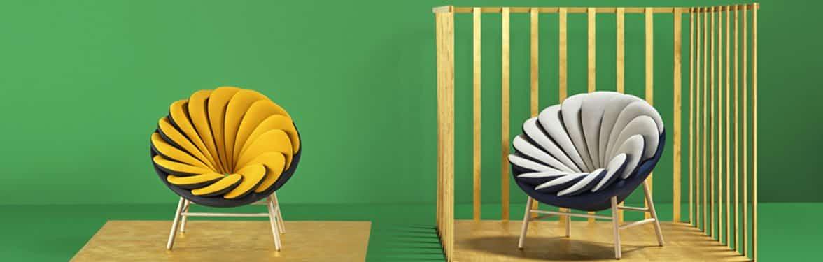 Sillas de diseño Quetzal fondo verde | Muebles de oficina Spacio