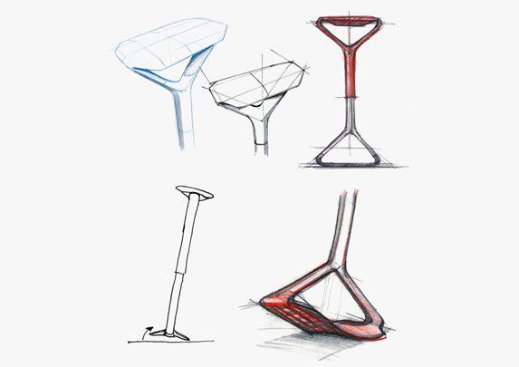 Sillas de oficina portátil boceto | Muebles de oficina Spacio