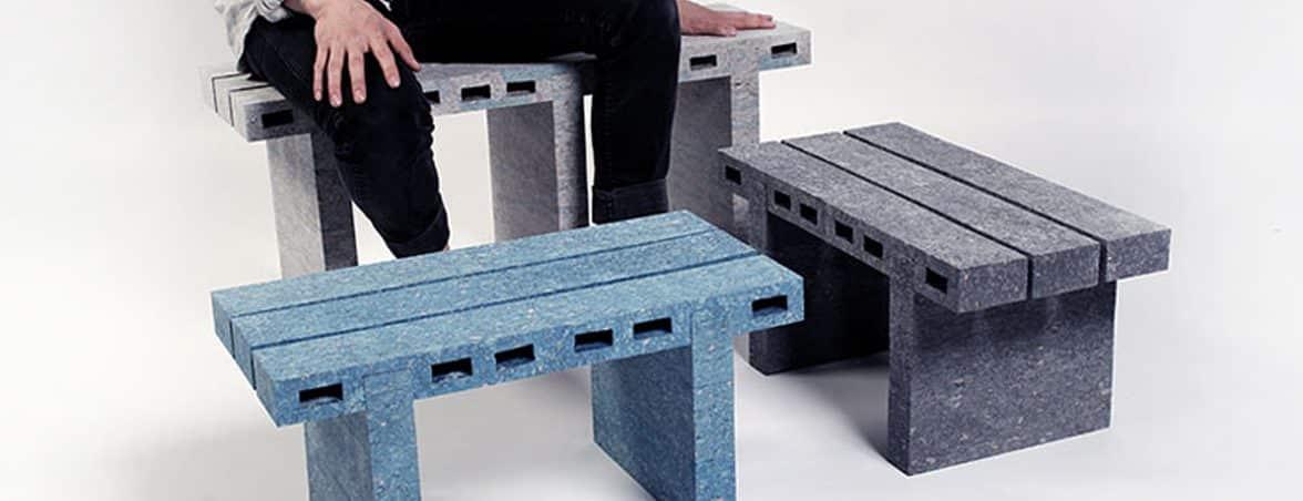 Sillas recicladas con persona | Muebles de oficina Spacio