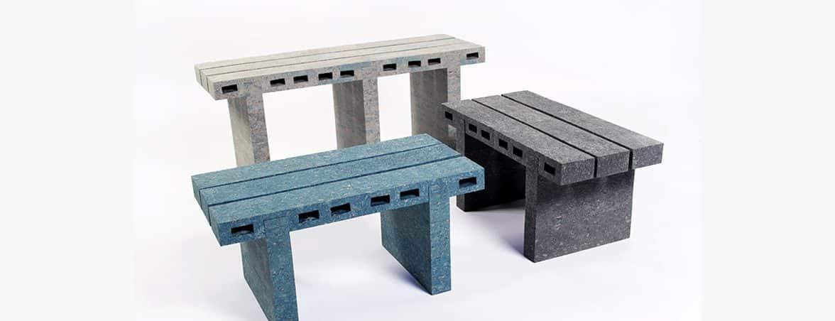 Sillas recicladas tres colores | Muebles de oficina Spacio