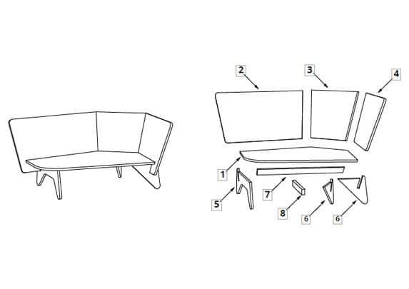 Sofá para niños montaje | Muebles de oficina Spacio