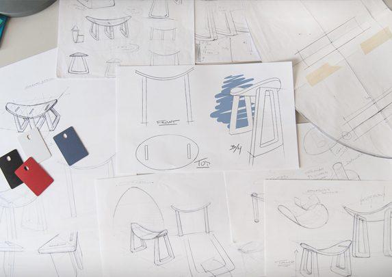 Taburete con movimiento plano | Muebles de oficina Spacio