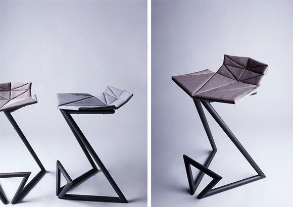 Taburete diseño gris | Muebles de oficina Spacio