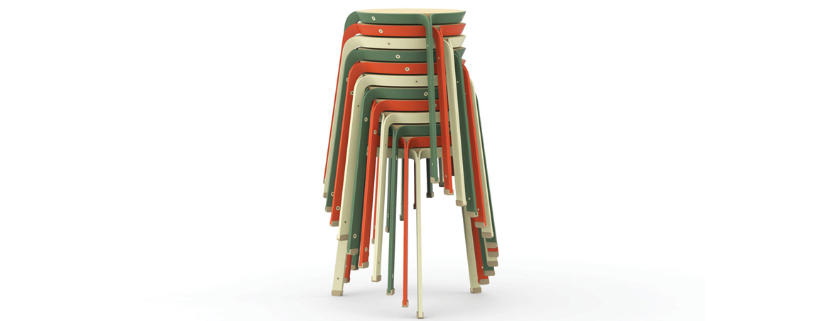 Taburetes apilables colores | Muebles de oficina Spacio