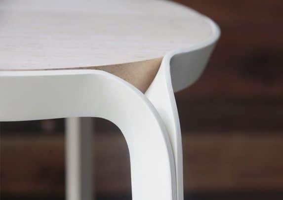 Taburetes apilables detalle | Muebles de oficina Spacio