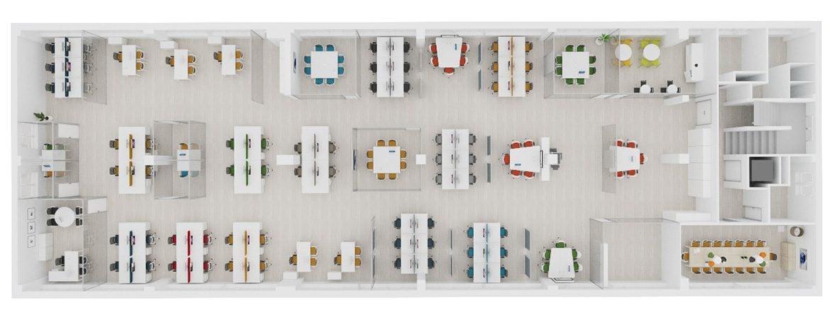 Muebles de oficina realidad virtual distribución | Muebles de oficina Spacio