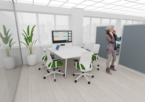 Muebles de oficina realidad virtual render | Muebles de oficina Spacio