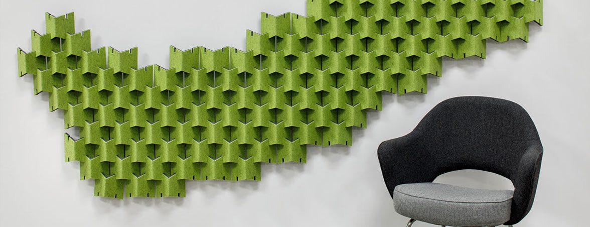 Paneles fonoabsorbentes verdes | Muebles de oficina Spacio