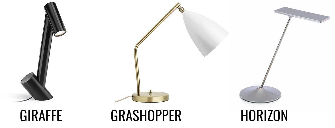 Lámparas modernas Giraffe Grashopper Horizon | Muebles de oficina Spacio