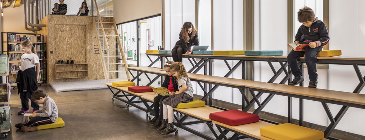 Muebles para escuela espacio colaborativo | Muebles de oficina Spacio
