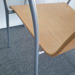 Silla Confidente Claudia detalle brazo pata | Muebles de Oficina Spacio