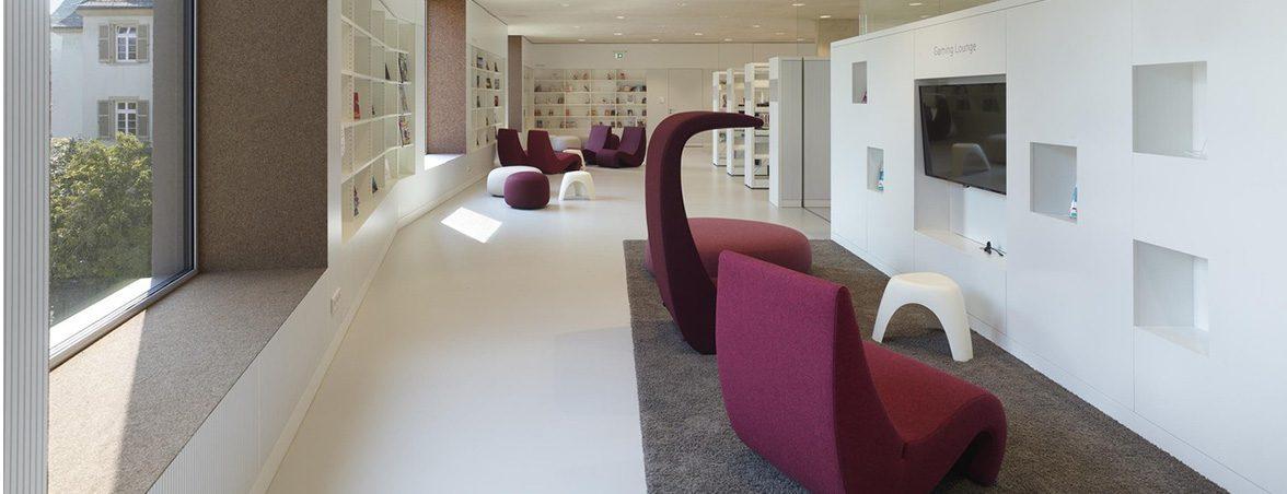 Mobiliario para biblioteca sillones | Muebles de oficina Spacio