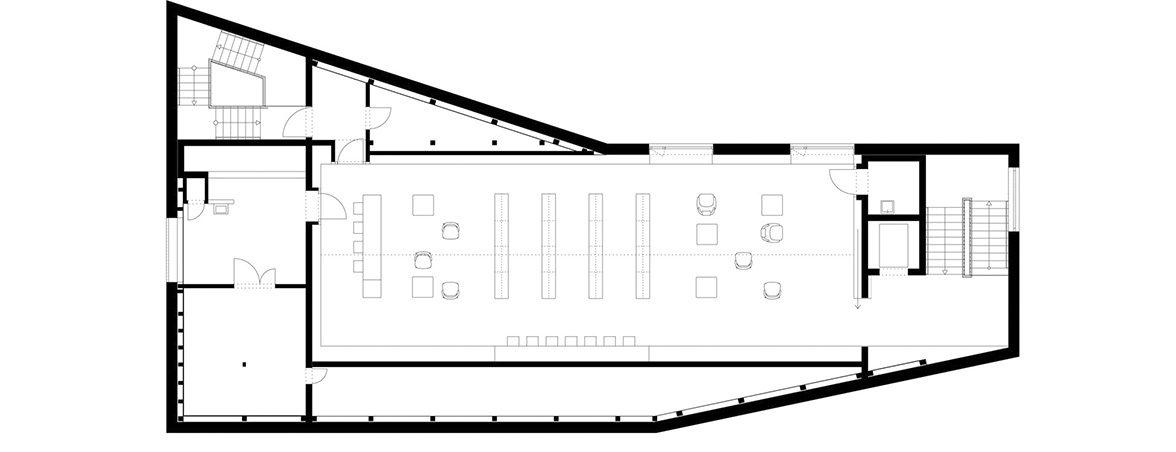 Plano planta 2 biblioteca Rotteburg | Muebles de oficina Spacio