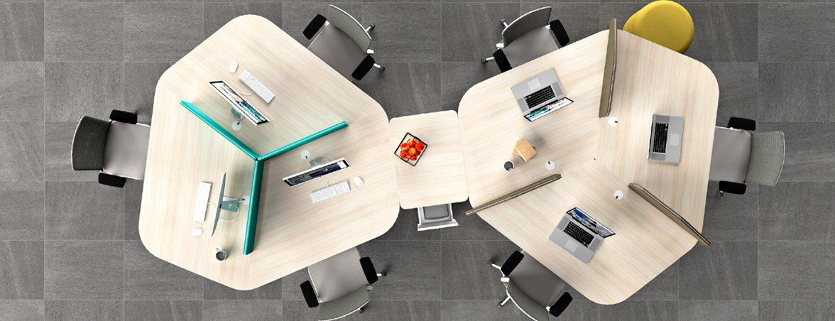 Mesa oficina colaborativa portada | Muebles de oficina Spacio