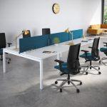 Silla para trabajar en casa Spot azul   Muebles de oficina Spacio