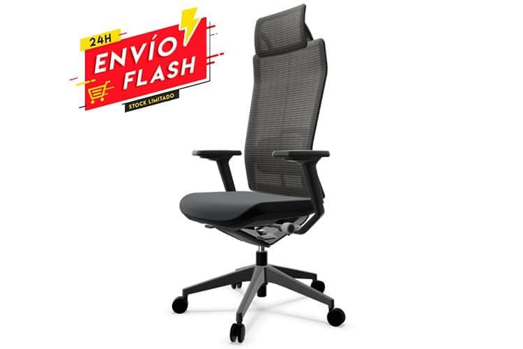 TNK Flex Carbon Black foto listado | Muebles de Oficina Spacio