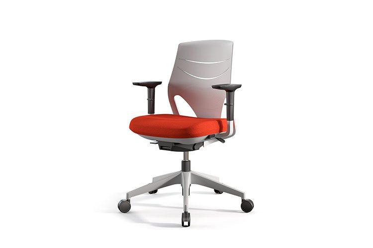 Silla Actiu Efit Home Office Naranja | Muebles de oficina Spacio