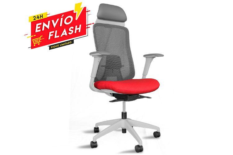 Silla de oficina Asmara rojo | Muebles de Oficina Spacio