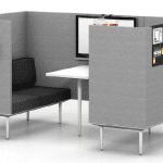 Asientos con divisoras Actiu Longo Pod | Muebles de Oficina Spacio