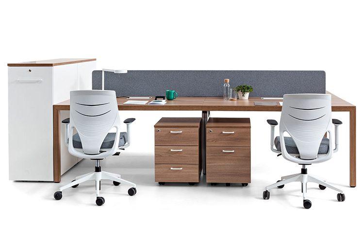 Mesas dobles Actiu Prisma | Muebles de Oficina Spacio