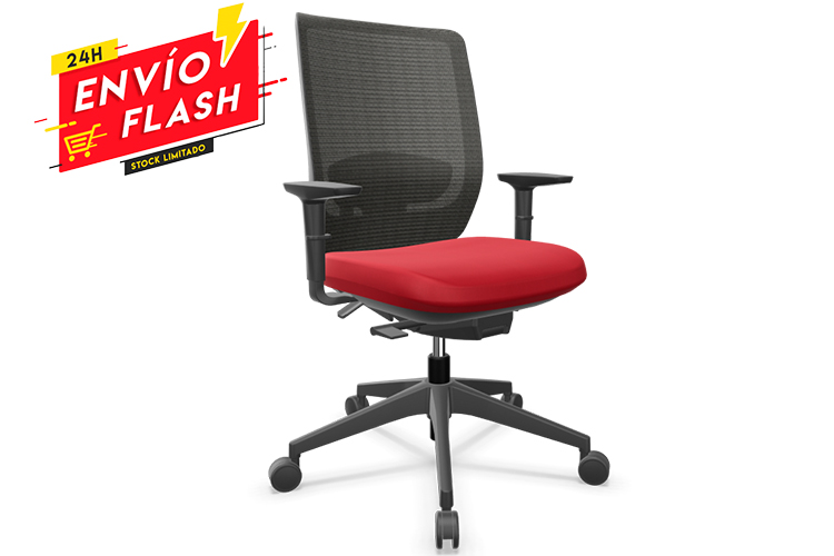 Actiu trim red and black basic entrega en 24 horas | Muebles de Oficina Spacio