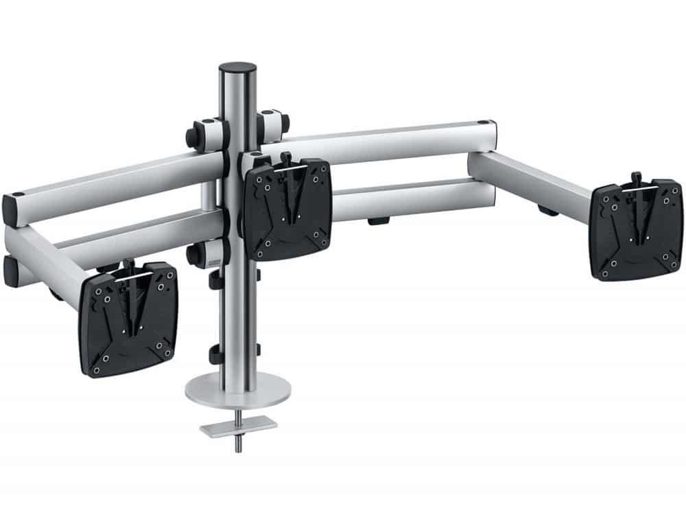 Soporte para tres monitores NOVUS TSS Trio Teleskop | Serie TSS / soportes para monitores Spacio
