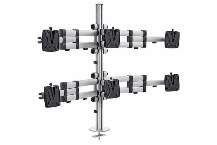 Soporte para seis monitores Novus TSS Sextett Teleskop | Serie TSS / Accesorios de oficina