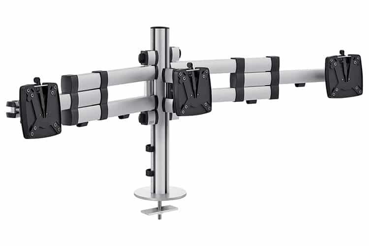 Soporte para tres monitores Novus TSS Trio Telescope | Serie TSS / Accesorios de oficina Spacio