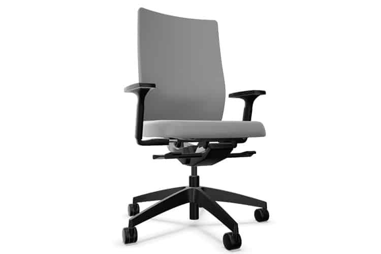 Silla giratoria tapizada gris claro DO SEDUS | Muebles de Oficina Spacio